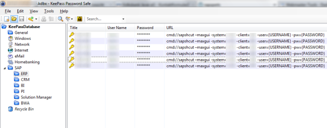KeePass statt SAP Logon